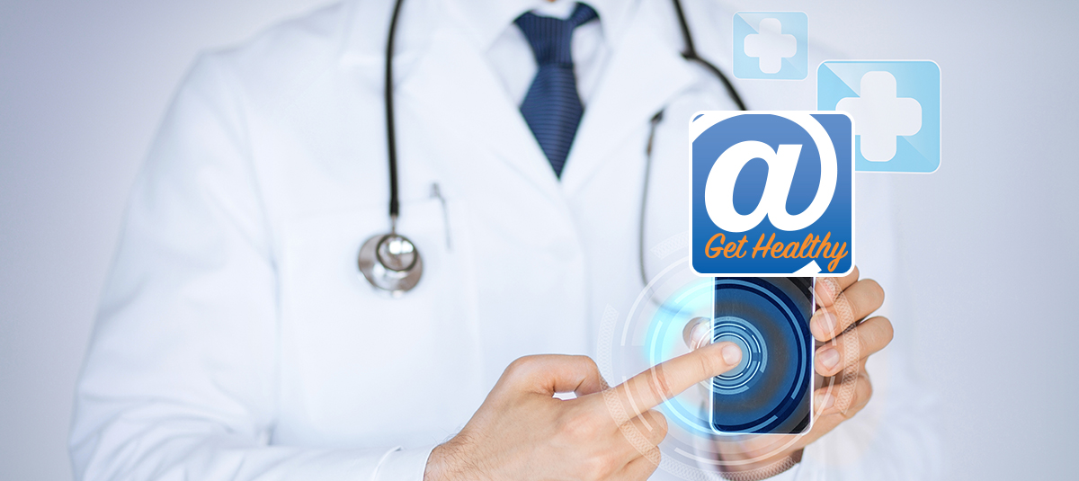 Doctor Pointing to App